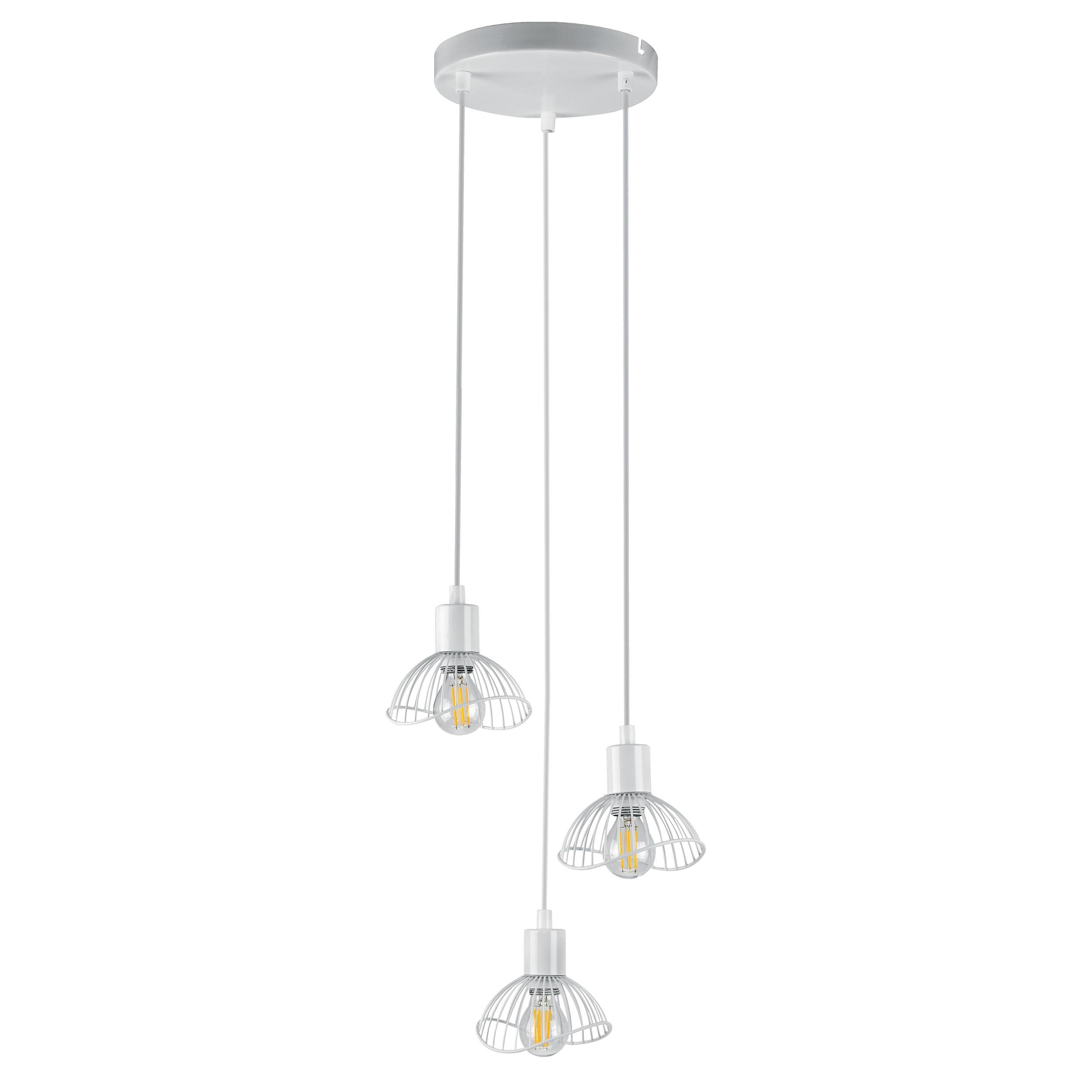 Lampa wisząca AJE-HOLLY 7 White 3xE14