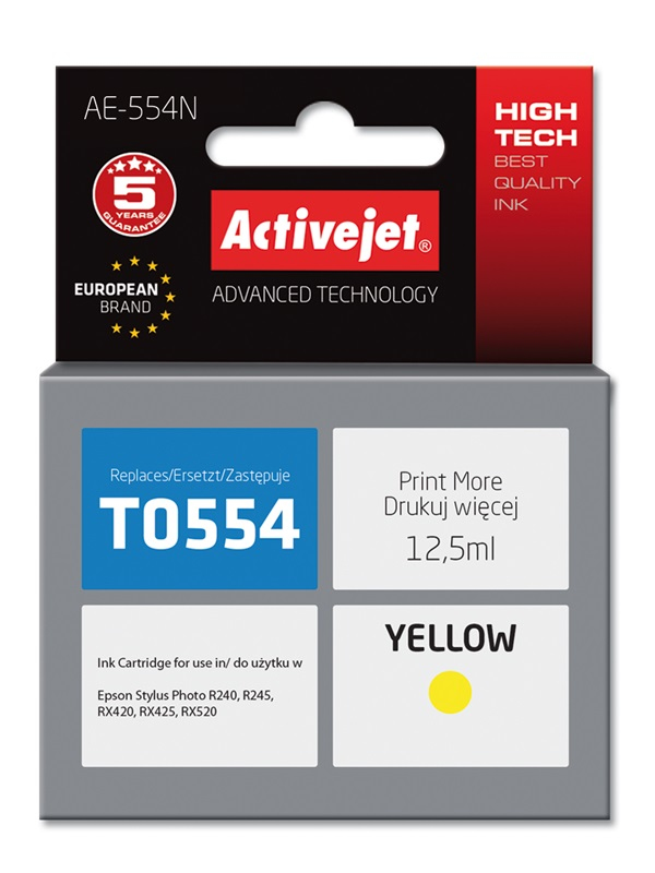 ACJ tusz Eps T0554 RX420/RX425 Yellow..