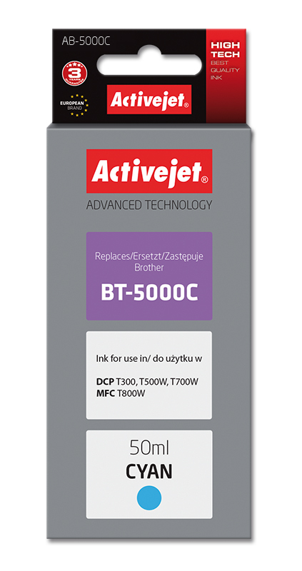 Activejet tusz do Brother BT-5000C new AB-5000C