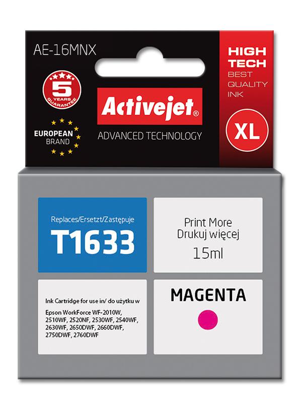 Tusz Activejet AE-16MNX (do drukarki Epson, zamiennik T1633 supreme 15ml magenta)