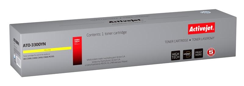ActiveJet ATO-3300YN [AT-3300YN] toner laserowy do drukarki OKI (zamiennik 43459329)
