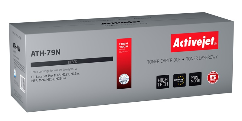 Toner Activejet ATH-79N (do drukarki Hewlett Packard, zamiennik 79A CF279A supreme 1000str. czarny)..