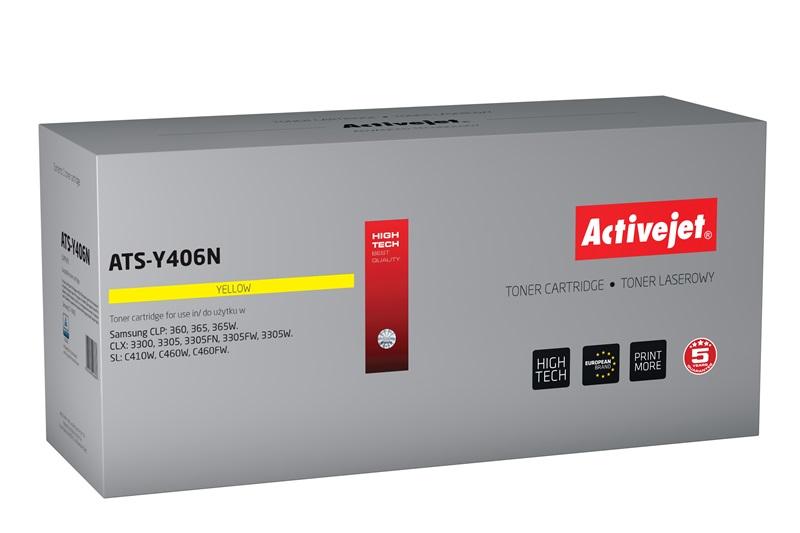 Toner Activejet ATS-Y406N do drukarki Samsung, Zamiennik CLT-Y406S;  Supreme;  1 000 stron;  żółty.