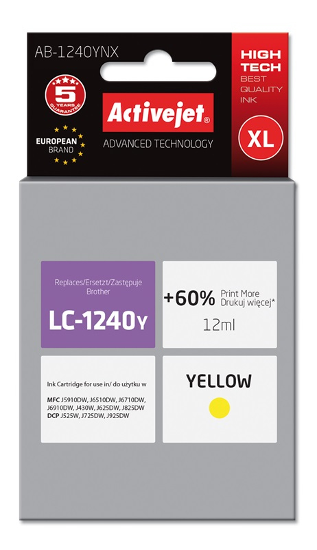 ActiveJet AB-1240YNX tusz żółty..