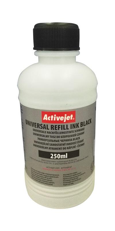 Activejet Uniw. tusz do uzupełnień BLACK 250ml URB-250BK
