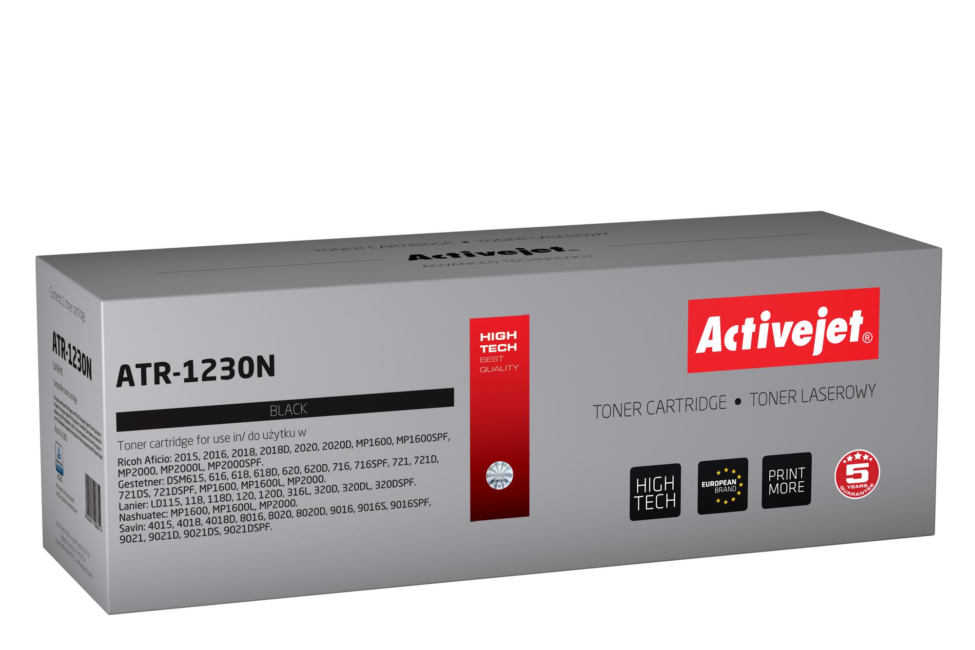 Toner Activejet ATR-1230N (do drukarki Ricoh, zamiennik 1230D 885094, 885473, 888216 supreme 9000str. czarny)