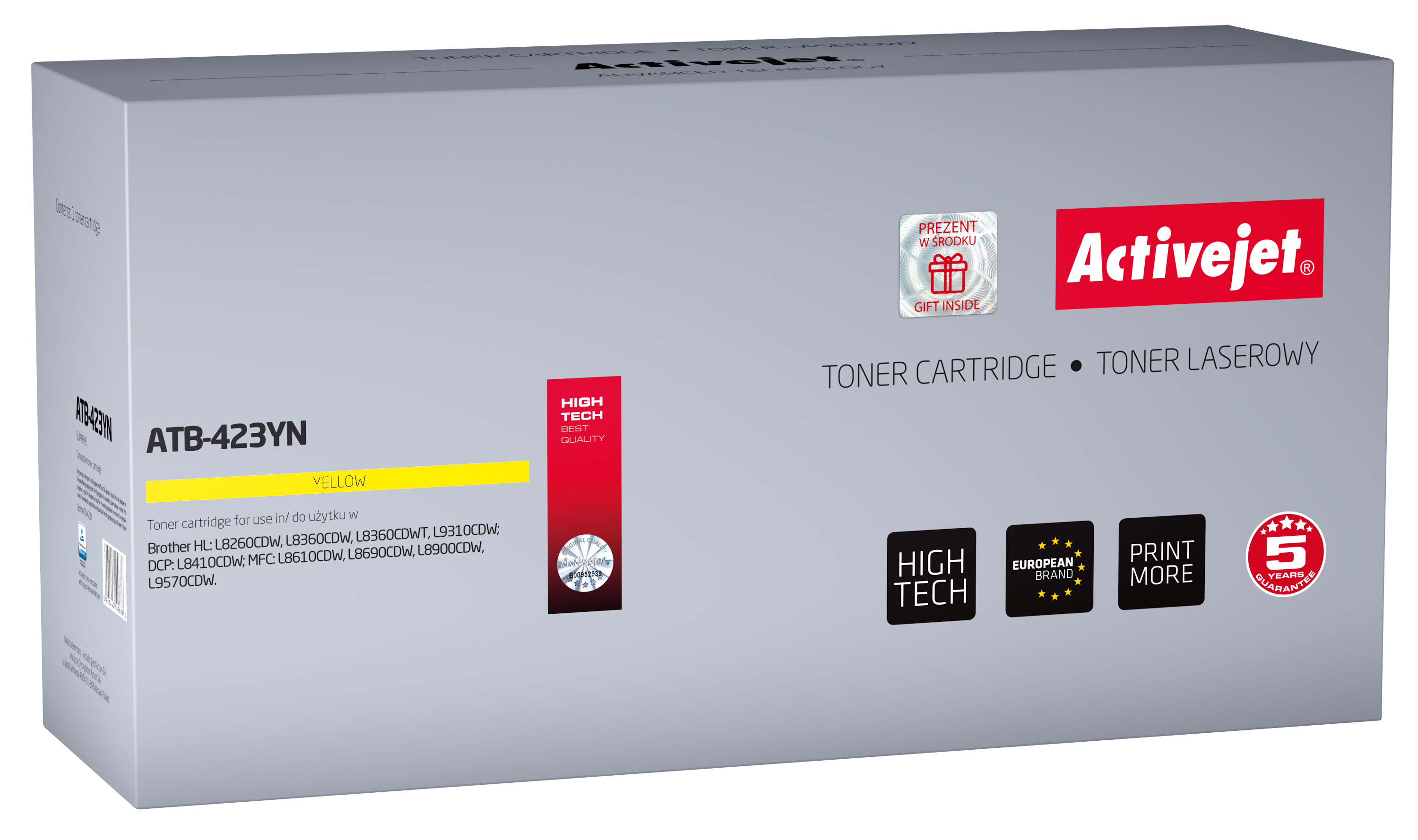 Activejet toner do Brother TN-423Y new ATB-423YN