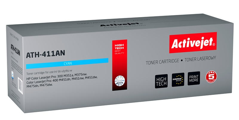 ActiveJet toner do HP 305A CE411A reg ATH-411AN
