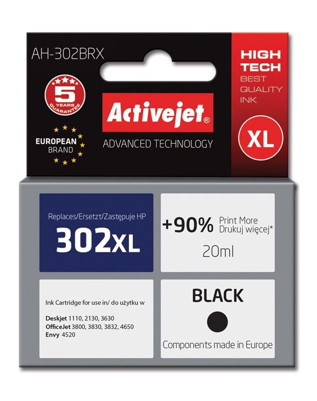 ActiveJet tusz do HP 302XL reg AH-302BRX -NewChip