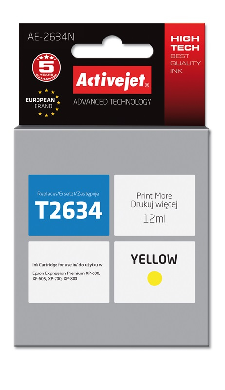 ACJ tusz Eps T2634 Yellow XP-600, XP-800 AE-2634N