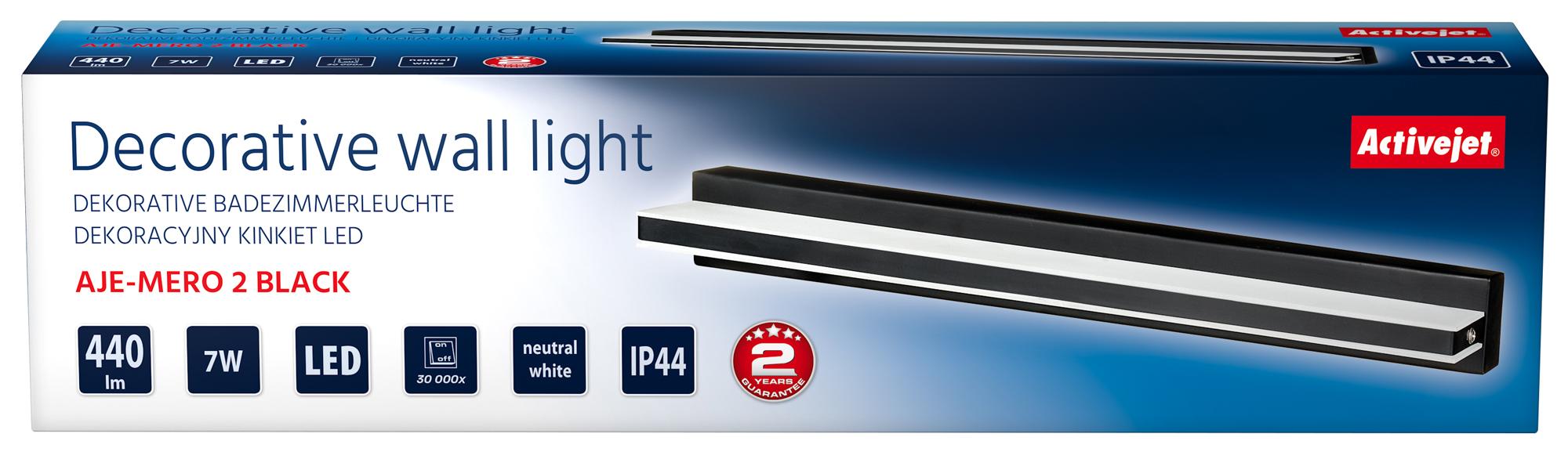 Kinkiet dekoracyjny LED AJE-MERO 2 BLACK IP44