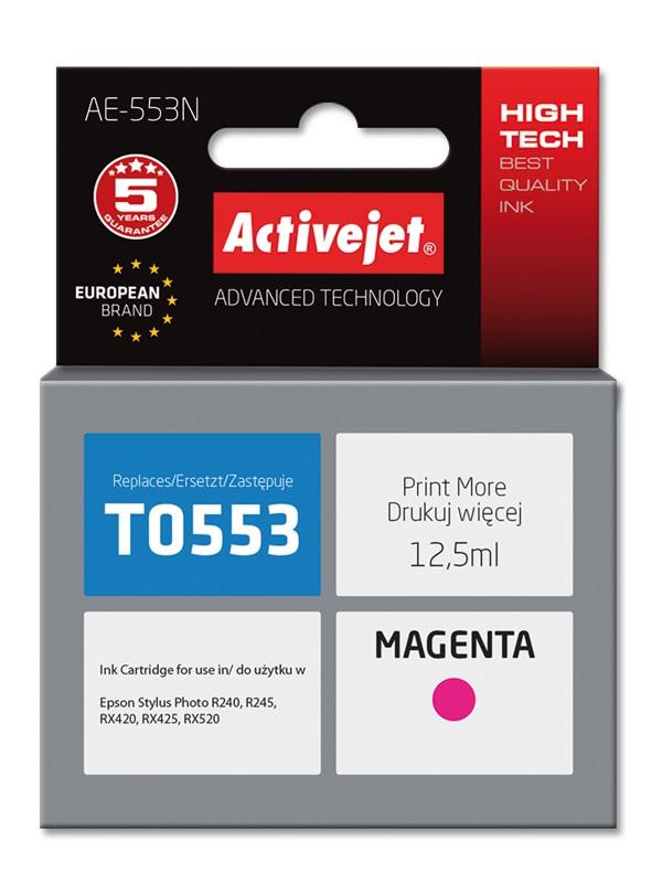 Tusz Activejet AE-553N do drukarki Epson, Zamiennik Epson T0553;  Supreme;  12.5 ml;  purpurowy.