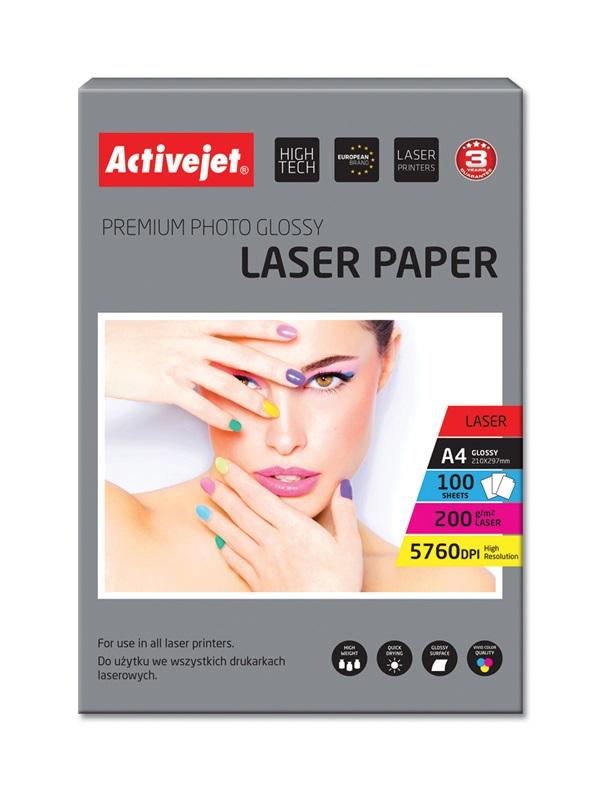 ActiveJet papier fotograficzny błyszczący A4 100 szt 200g  AP4-200G100L
