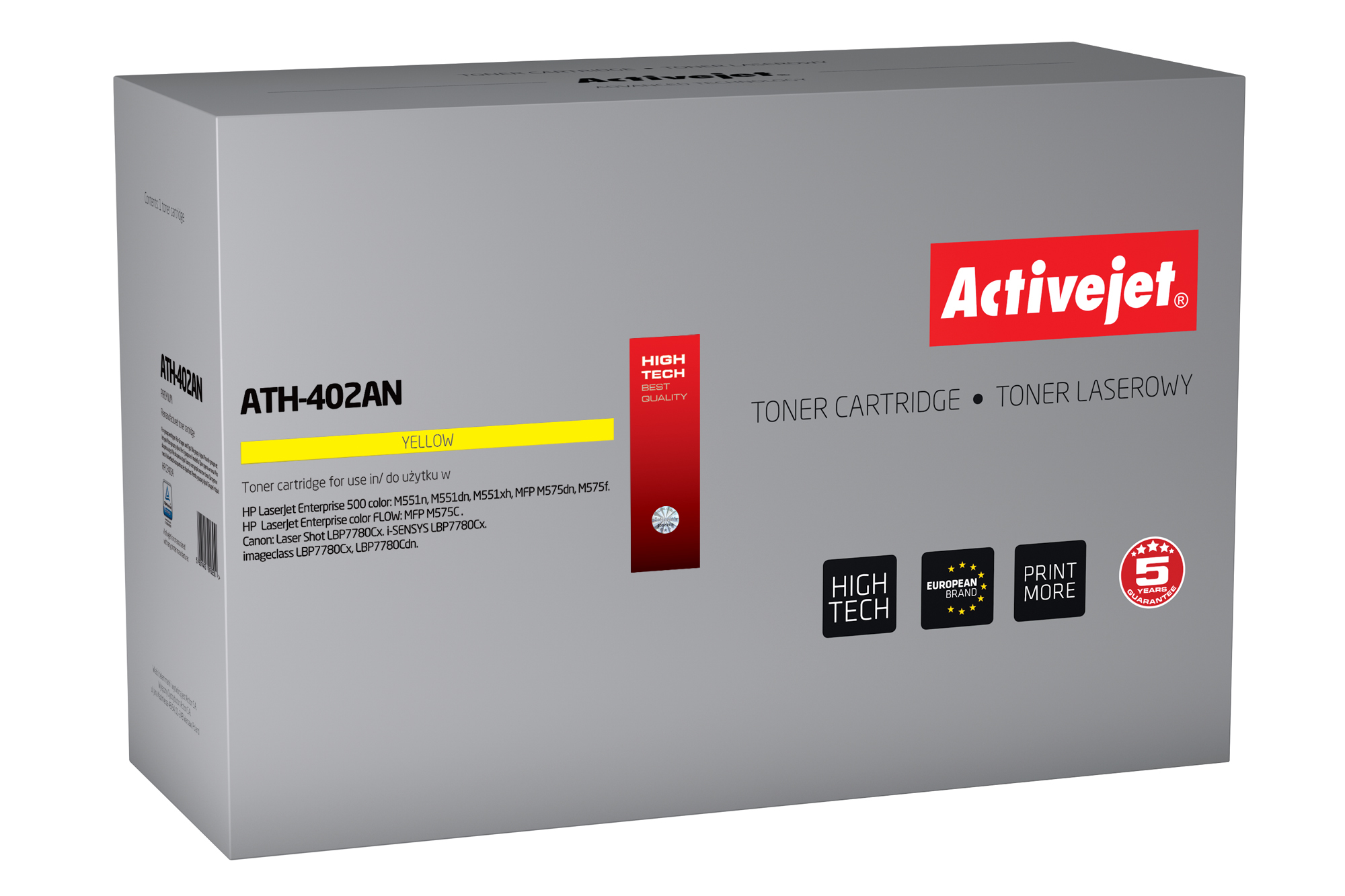 ActiveJet toner do HP 507A CE402A reg ATH-402AN
