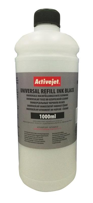ACJ Uniwersalny tusz do uzupełnień 1000ml Black URB-1000Bk