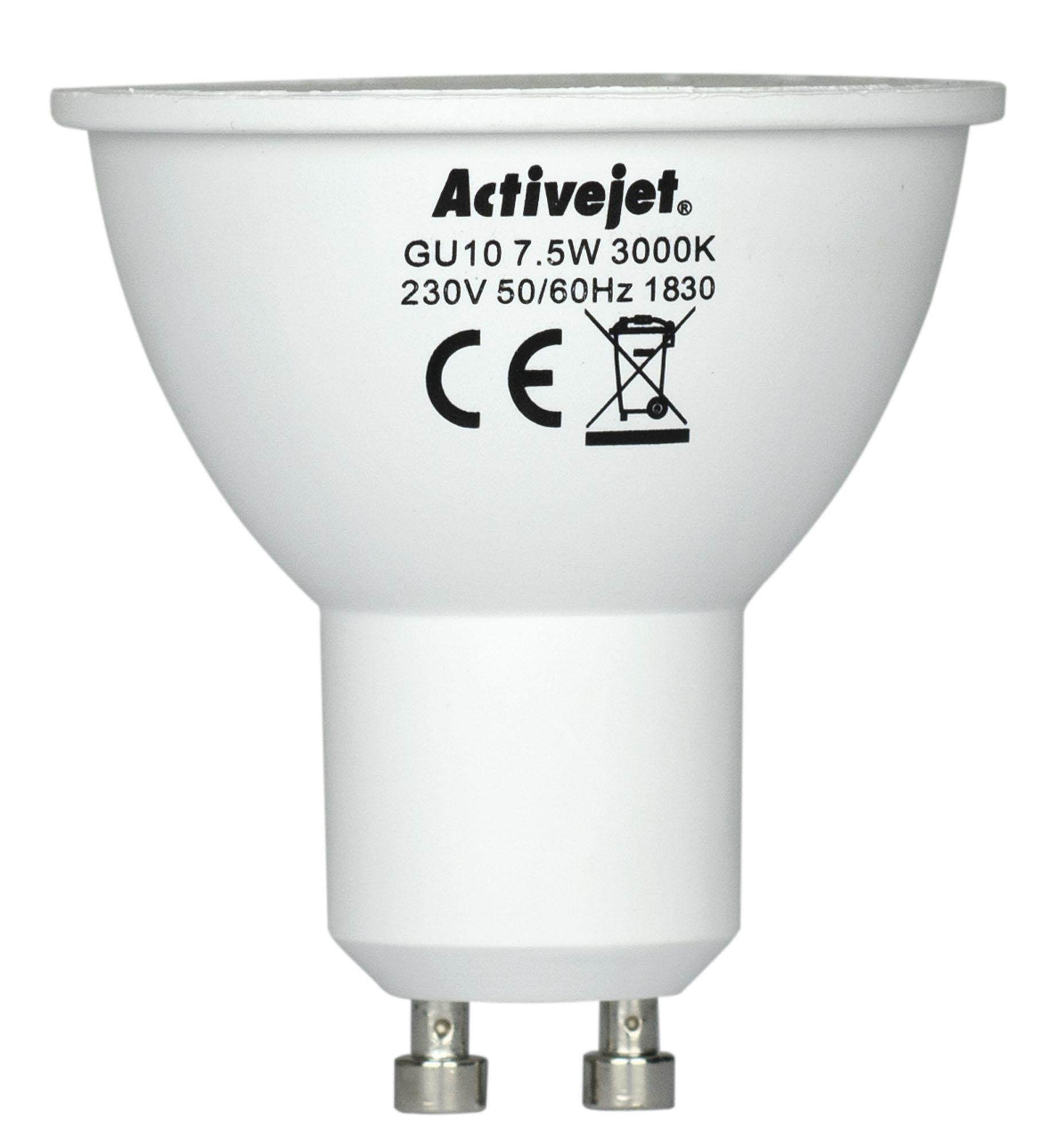 LED SMD AJE-S3710W 600lm 7,5W GU10 barwa ciepła