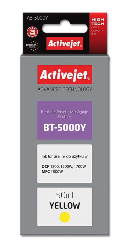 Activejet tusz do Brother BT-5000Y new AB-5000Y